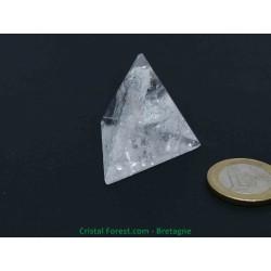 Cristal de roche - Tétraèdre (solides de Platon)