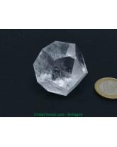 Cristal de roche - Dodécaèdres (solides de Platon)