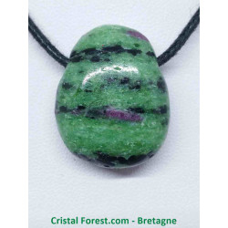 Rubis Zoïsite - pendentif pierre percée