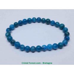 Apatite Bleue - Bracelet Boules