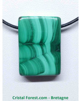 Pendentif Malachite Extra - Pierre percée - Rectangle