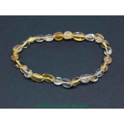 Citrine naturelle (non chauffée) - Bracelets Grains de 6 à 11 mm