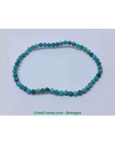 Turquoise - Bracelet Billes Facettées