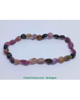 Tourmaline Multi-couleurs - Bracelet Grains