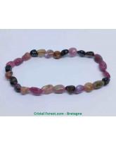 Tourmaline Multi-couleurs - Bracelet Grains