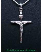 Pendentif Argent - Croix du Christ - Crucifix