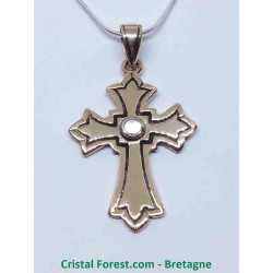 Croix Latine - Bronze et Nacre