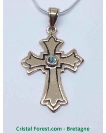 Croix Latine - Bronze et Labradorite