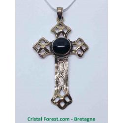 Croix Latine - Bronze et Onyx