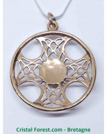 Croix Solaire - Bronze et Nacre
