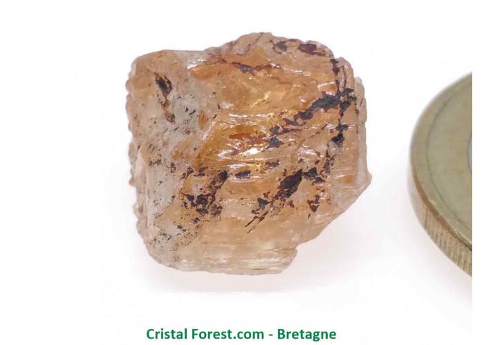 Topaze Impériale - Pierres Brutes Gemmes - 1,3 x 1,2 x 0,9cm / 3,40gr