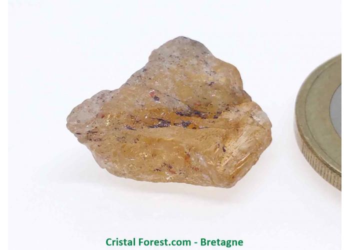 Topaze Impériale - Pierres Brutes Gemmes - 1,7 x 1,5 x 0,7cm / 3,24gr