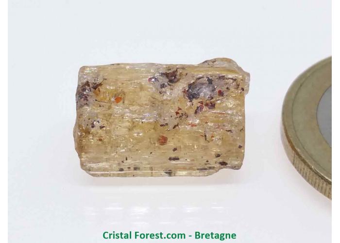 Topaze Impériale - Pierres Brutes Gemmes - 1,6 x 0,8 x 0,8cm / 3,34gr