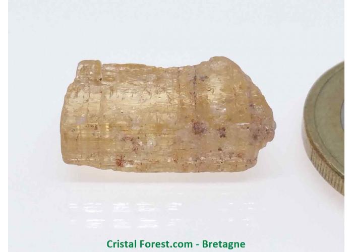 Topaze Impériale - Pierres Brutes Gemmes - 1,8 x 1 x 0,6cm / 2,81gr