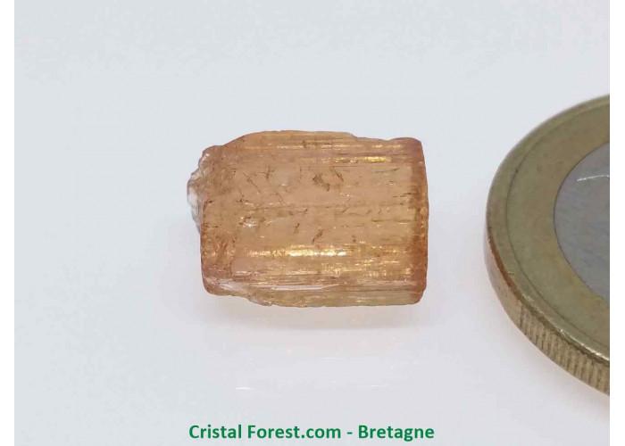 Topaze Impériale - Pierres Brutes Gemmes - 1,2 x 0,7 x 0,6cm / 1,50gr