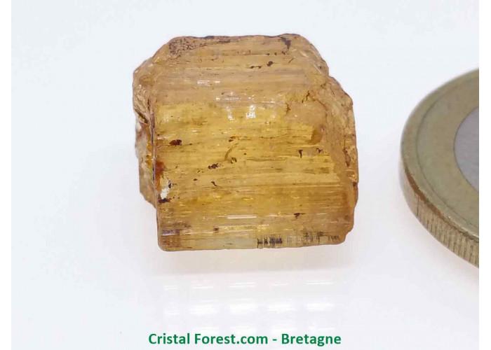 Topaze Impériale - Pierres Brutes Gemmes - 1,4 x 1 x 0,9cm / 3,80gr