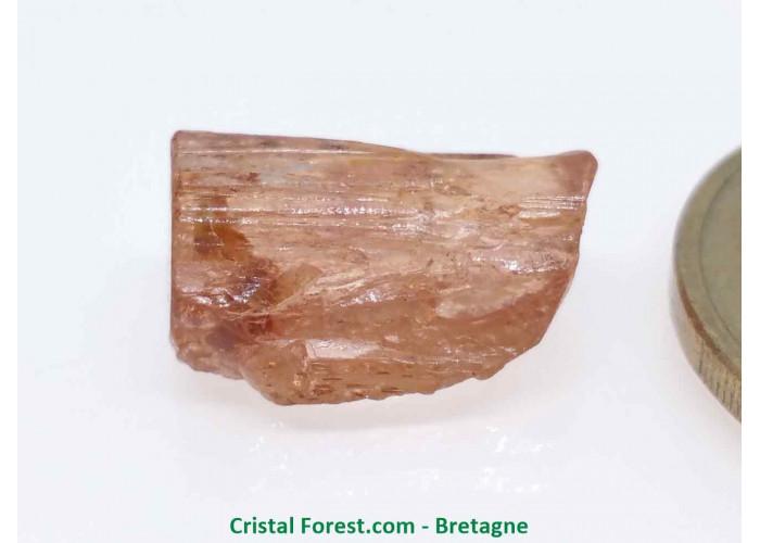 Topaze Impériale - Pierres Brutes Gemmes - 1,6 x 0,9 x 0,6cm / 2,18gr