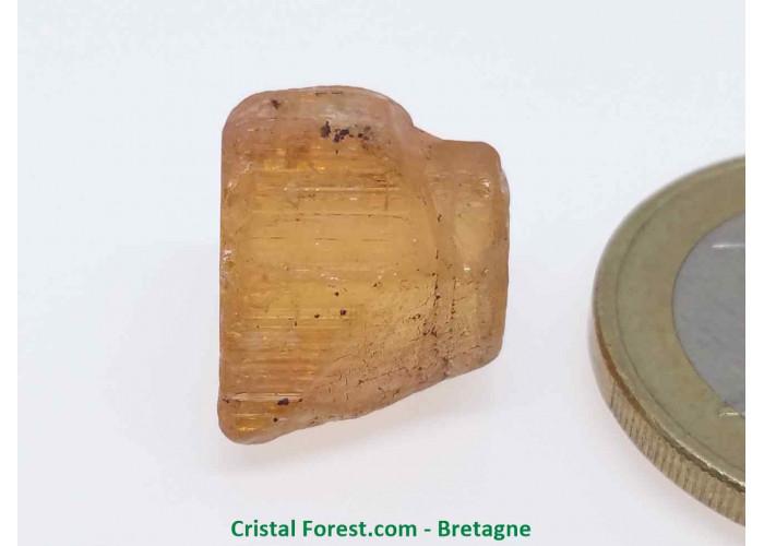 Topaze Impériale - Pierres Brutes Gemmes - 1,2 x 1,1 x 1cm / 3,69gr