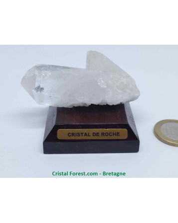 Cristal de roche - Druse sur socle