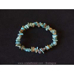 Turquoise du Tibet - Bracelet baroque (ships)
