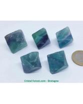 Fluorite (Fluorine) Tricolore - Octaèdre Pierre Brute