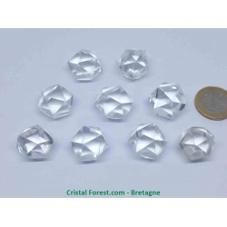 Cristal de roche - Icosaèdre (solide de Platon)