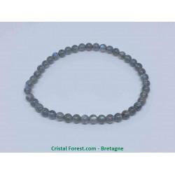 Labradorite extra - Bracelet boule 4/5 mm