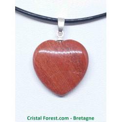 Jaspe rouge - Pendentif coeur