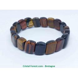 3 Yeux - Bracelet plaques (oeil de Tigre, Faucon et Taureau)