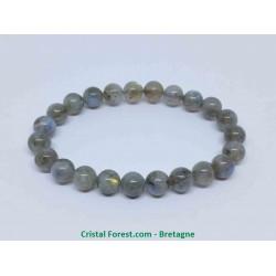 Labradorite extra - Bracelet boule 8 mm
