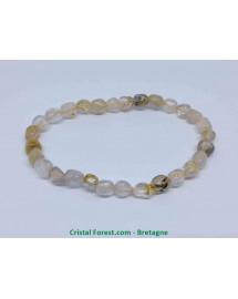 Quartz rutile - Bracelet Grains