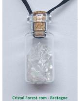Cristal de Roche - Pendentif Fiole