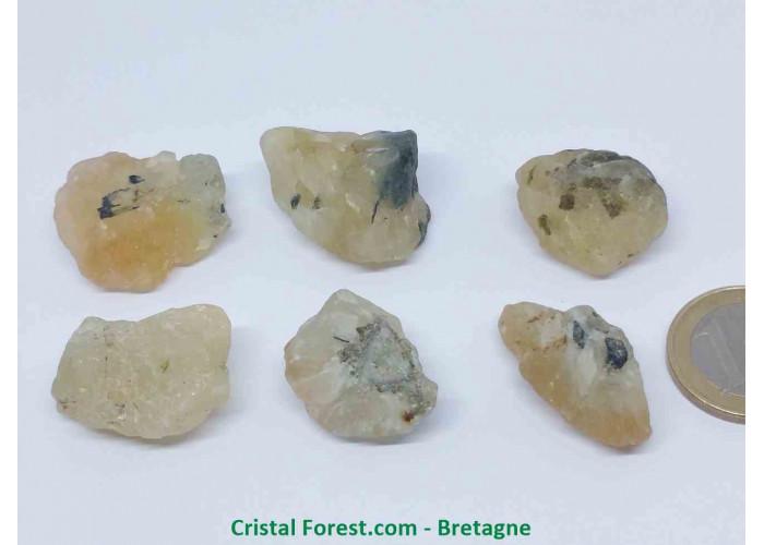 Phrénite (Prehnite) - 2 à 3 cm x ep. ,1, à 1,9 cm  / 7 à 12,5gr