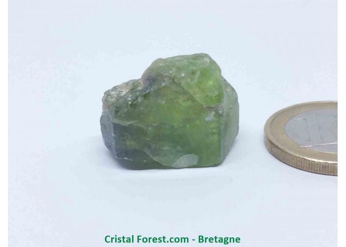 Péridot (Chrysolite) - Cristaux naturels Bruts - 1,7 x 2,3 x 1,9 cm / 10,10gr