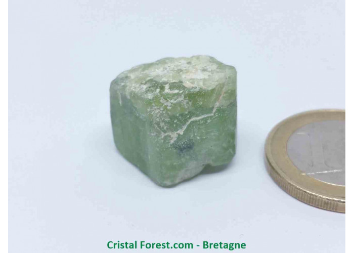Péridot (Chrysolite) - Cristaux naturels Bruts - 1,6 x 2 x 1,7 cm / 11,00gr