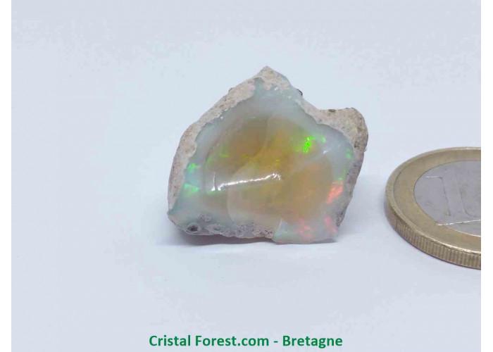 """Opale Noble """"Welo"""" AAA - Pierre gemme Brute  - 2,5 x 2,1 x 1,6 cm / 5,90gr"""