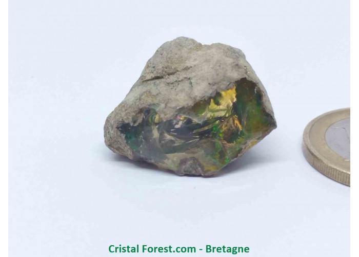 """Opale Noble """"Welo"""" AAA - Pierre gemme Brute  - 2,7 x 1,7 x 1,9 cm / 7,90gr"""