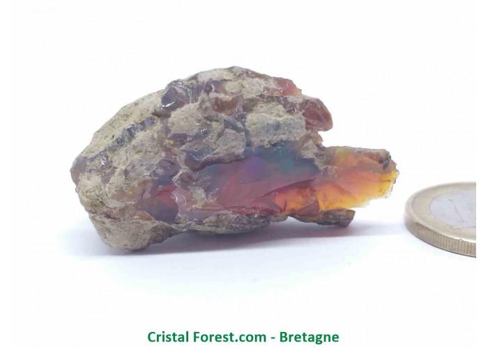 """Opale Noble """"Welo"""" AAA - Pierre gemme Brute  - 4,3 x 2,7 x 1,4 cm / 13,40gr"""