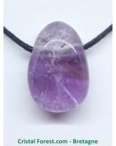 Améthyste - Pendentif pierre percée