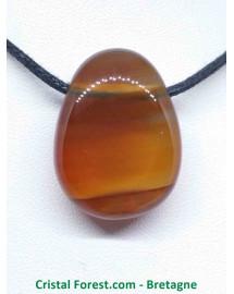 Cornaline - Pendentif pierre perçée