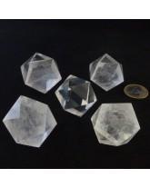 Icosaèdre Cristal de roche - 3,5 cm