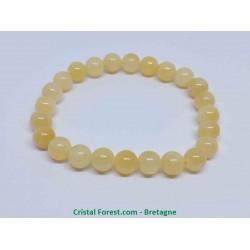 Calcite jaune-orangée - Bracelet Boules