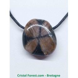 Chiastolite (Andalousite / Pierre de croix ) - Pendentif Pierre percée