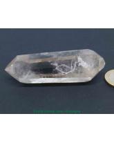 Cristal de roche - Pointe Quartz fumé bi terminée