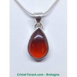 Grenat pyrope (almandin)  - Pendentif Sertis argent qualité gemme joaillerie