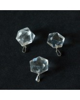 Pendentif Icosaèdre Cristal de roche - 2 cm