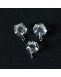 Pendentif Dodécaèdre - Cristal de roche 2 à 2,5 cm