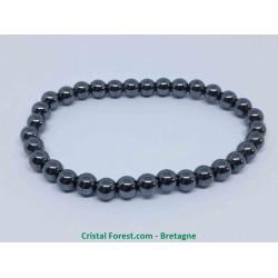 Hématite - Bracelet - boule 6mm