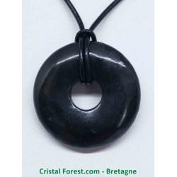 Shungite - Pendentif Donut 3 cm