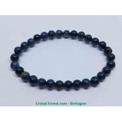 Dumortiérite - Bracelet Boules 6mm - Qualité extra